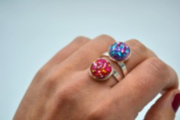 Anillo Party Doble Pink